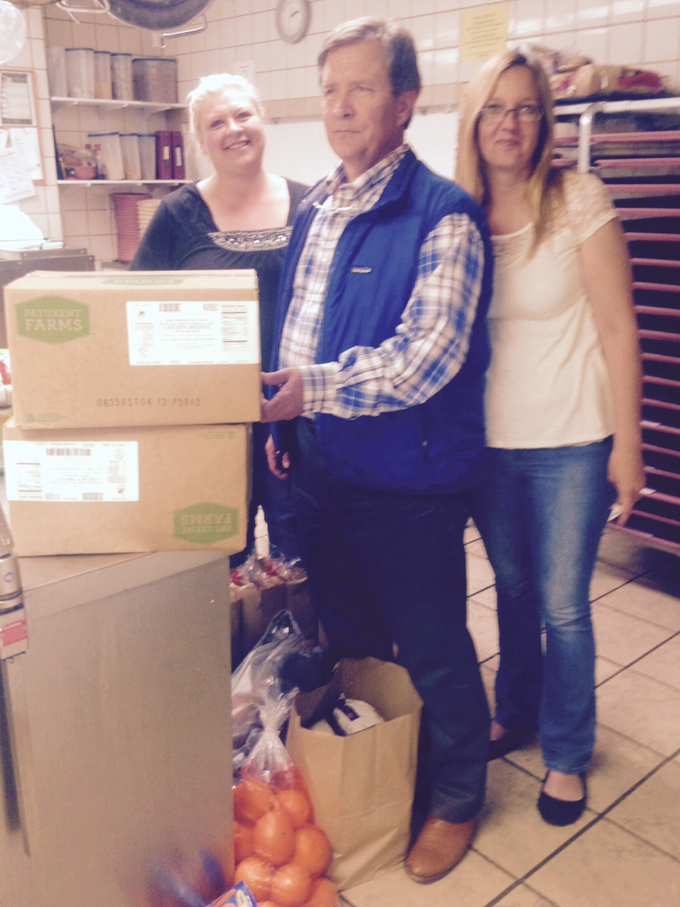 Open Range at The Outlaw Owner Donates Food to Deseret Health & Rehab Residents