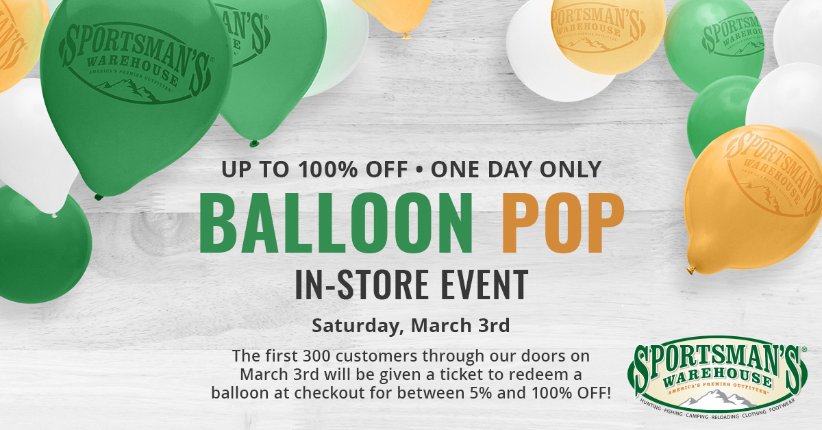 Up to 100% Off Purchases at Sportsman's Balloon Bonanza