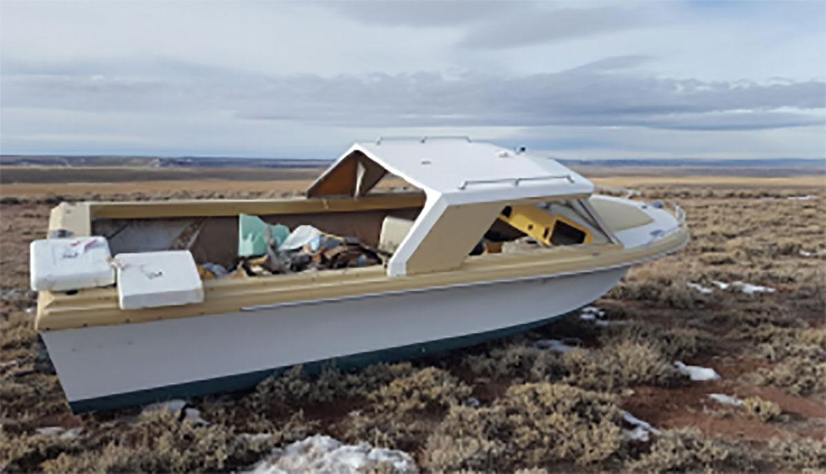 Boat Owner Cited For Dumping Watercraft In Desert