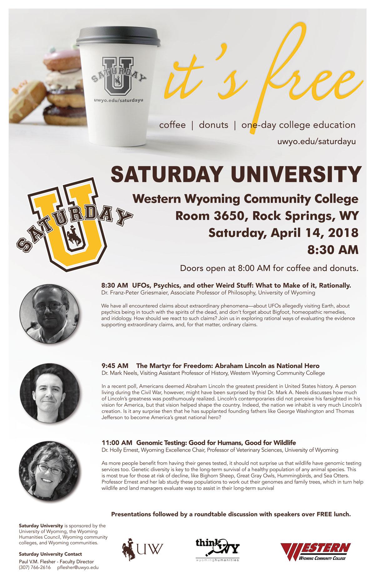 Saturday University April 14 At WWCC