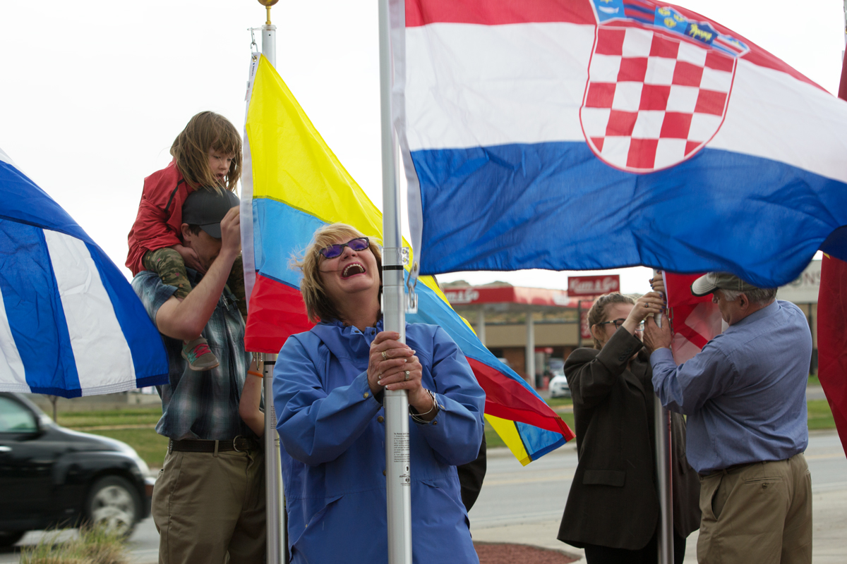 Rock Springs Chamber Raises 56 Flags to Honor the City's Cultural Heritage