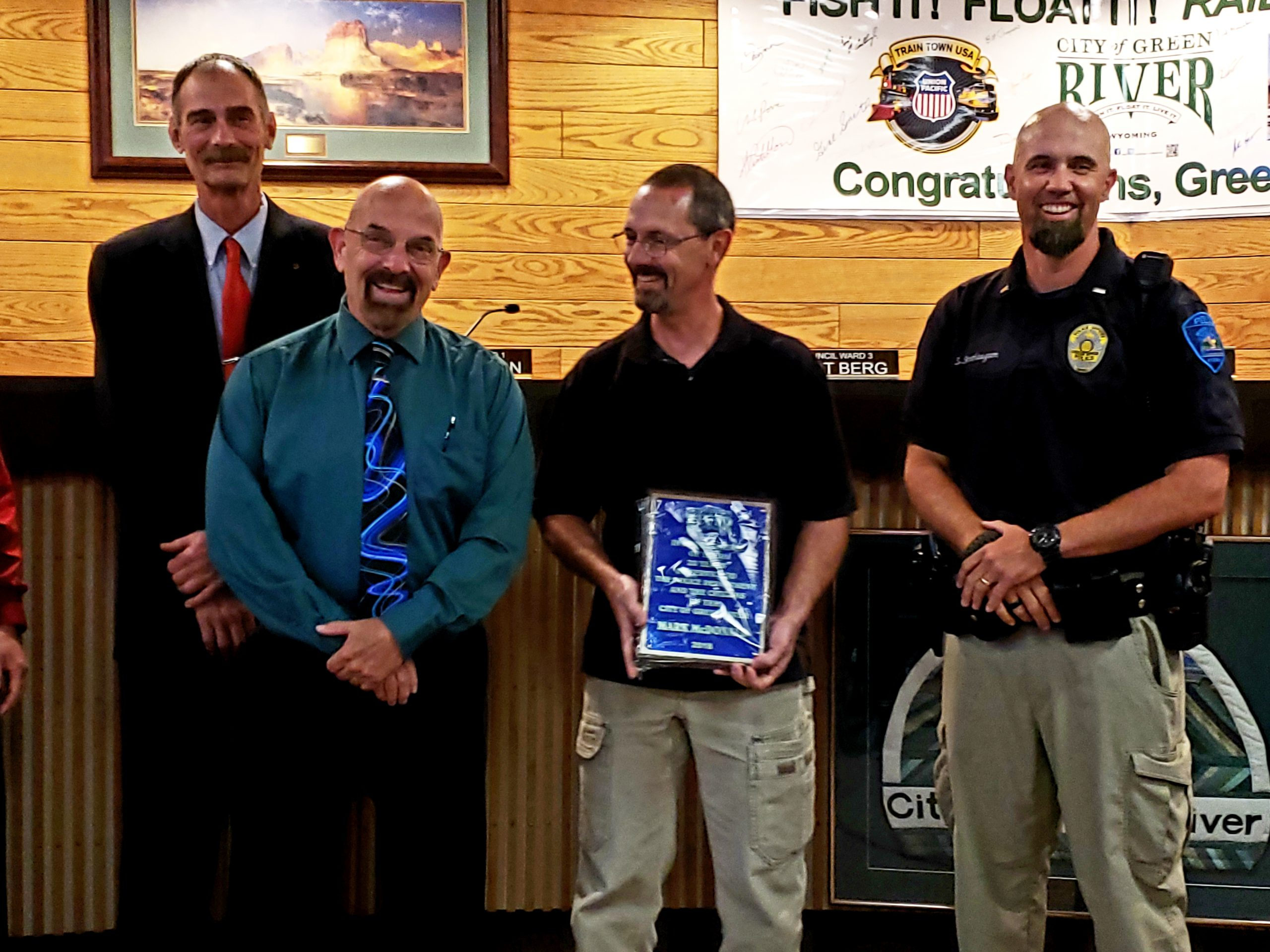 GR City Council Honors Retired GRPD Sergeant Mark McDonald