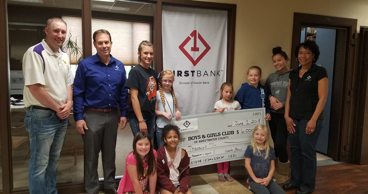 First Bank Donates $6,000 to Boys & Girls Club of Sweetwater County