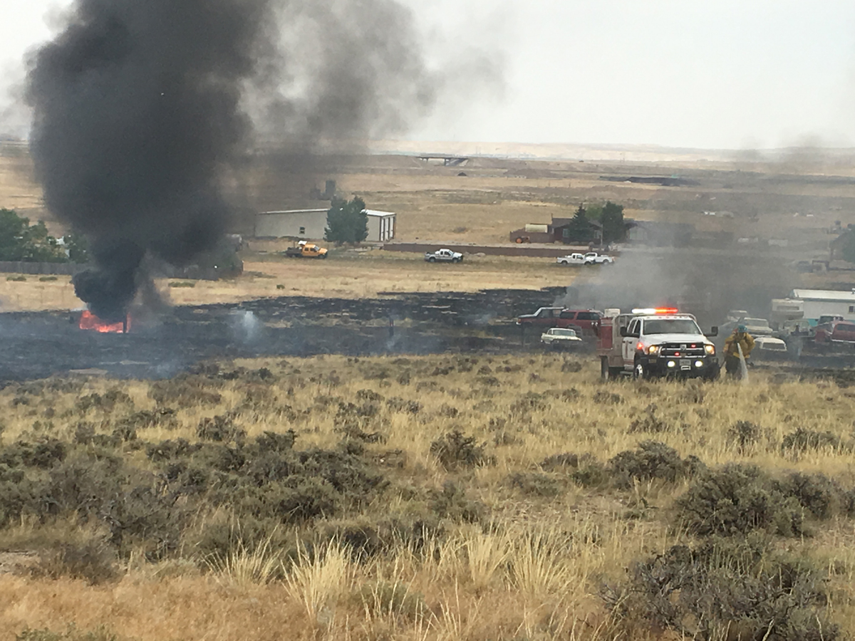 UPDATE: Granger Fire Contained at Just Under 10 Acres, One Residence Damaged