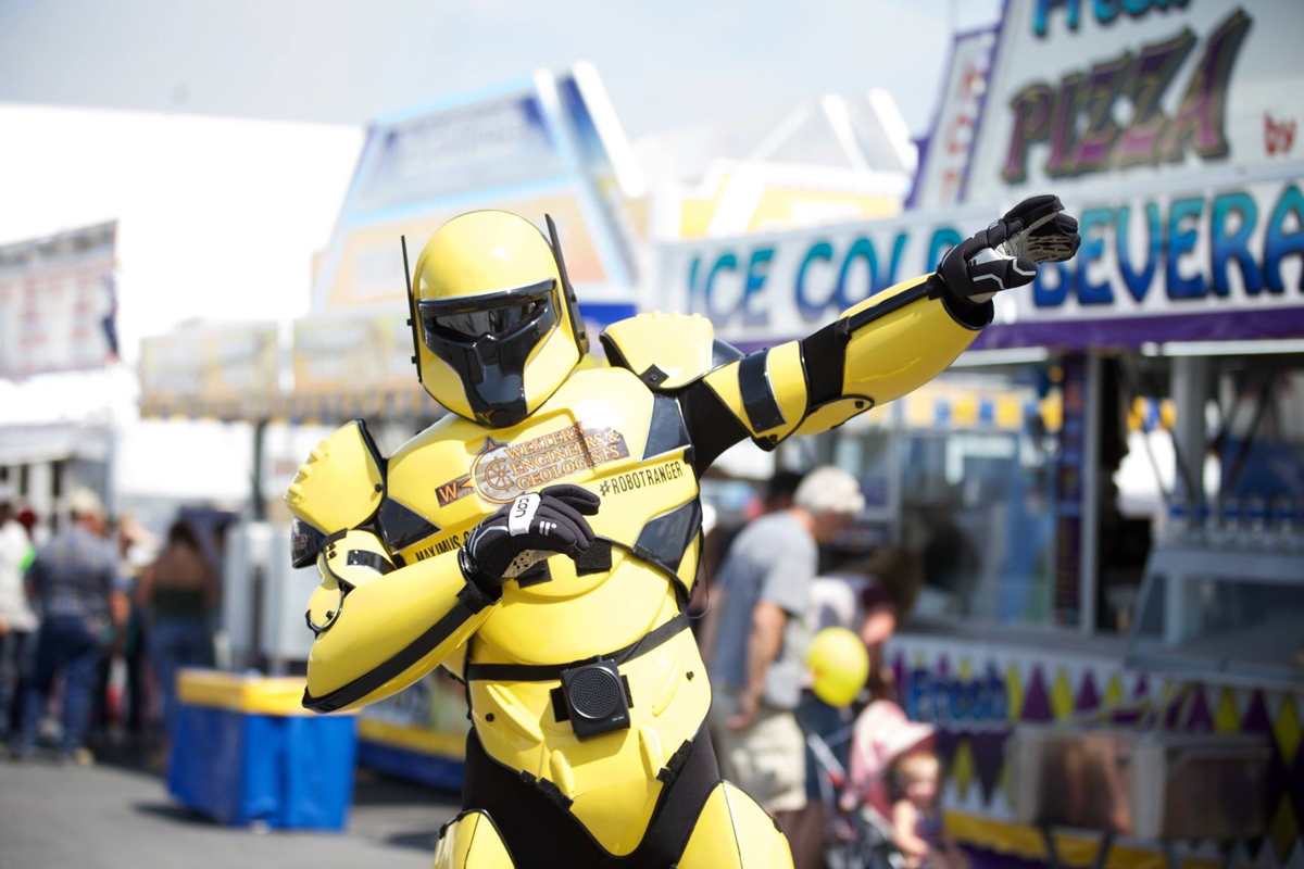 Take a Photo with the Robot Rangers at Wyoming's Big Show®
