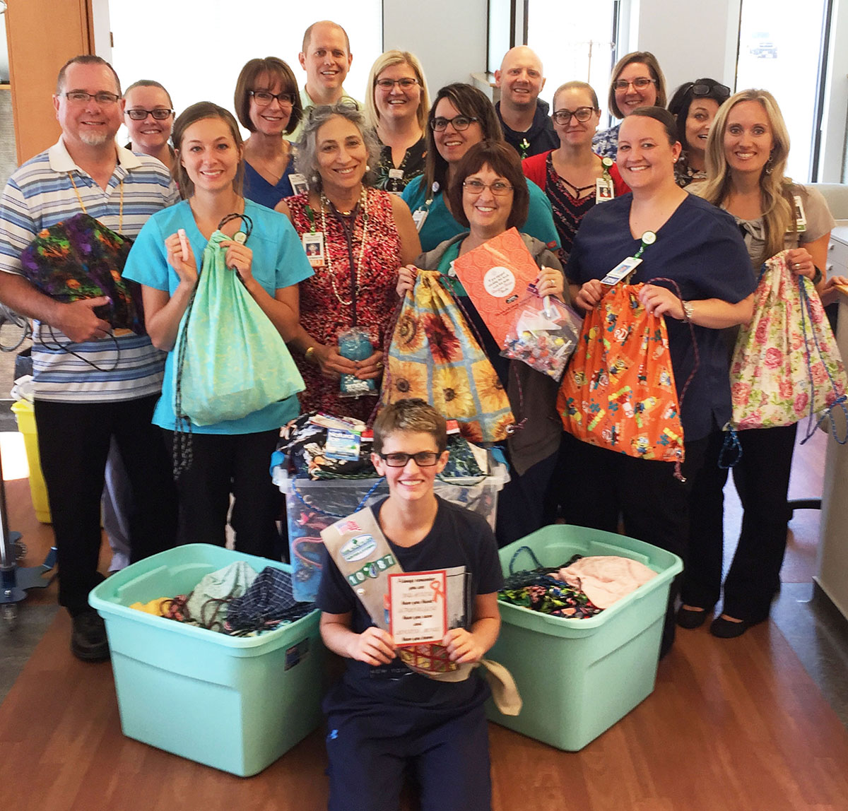 Girl Scout Cadet Donates Chemo Bags To Local Patients