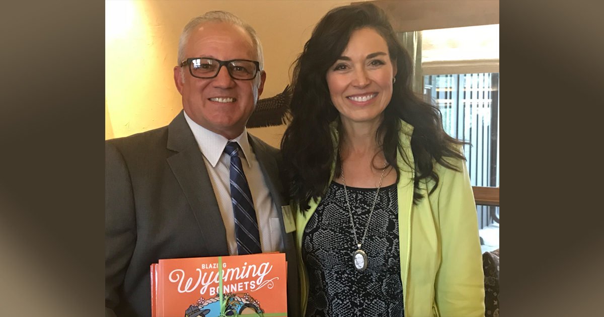 CINER Honored by Wyoming's First Lady Carol Mead for Supporting Her Second Children's Book