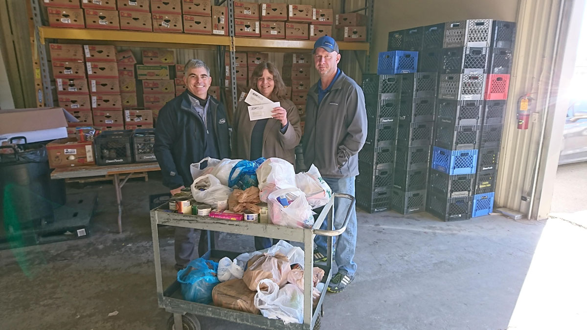 All West Communications Works to Fill Local Food Banks' Shelves