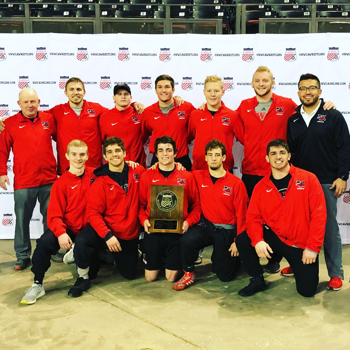WWCC Wrestling Finishes Third in NWCA Multi-Divisional National Duals