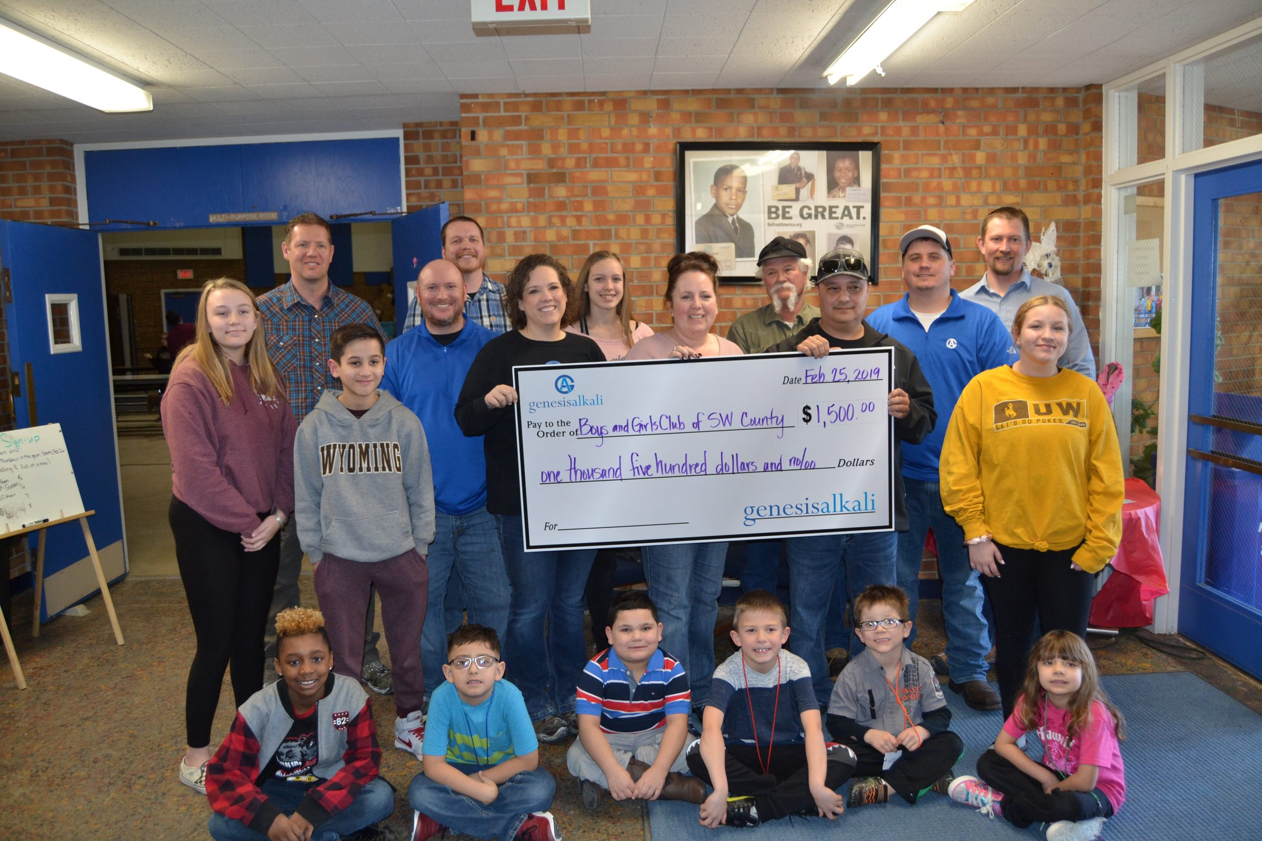 """Genesis Alkali Awards """"Courage to Care"""" Donations to Local Organizations"""