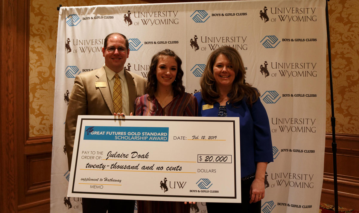 Boys & Girls Club of Sweetwater County Member Receives Scholarship from UW