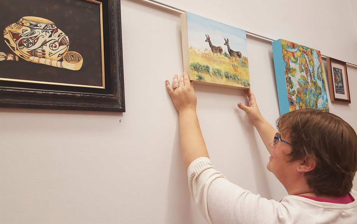 Women Artists Display at Sweetwater County Library