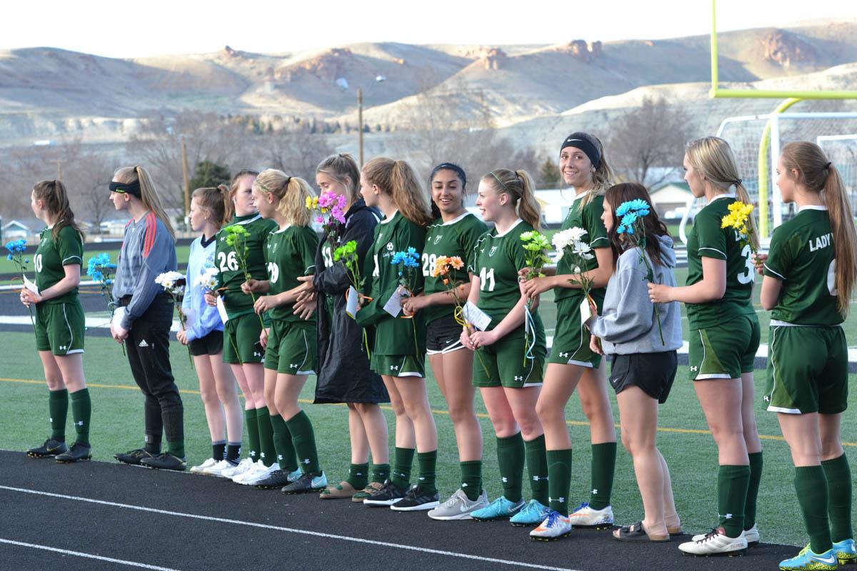 Lady Wolves Soccer Recognizes Seniors