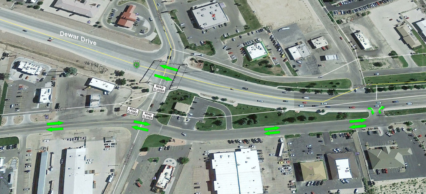 Work Will Cause Access Issues to Sunset Drive from Dewar Drive