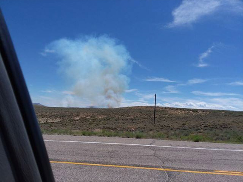 Green River Fire Burns 90 Acres; City Reminds Dry Conditions Add to Fire Danger