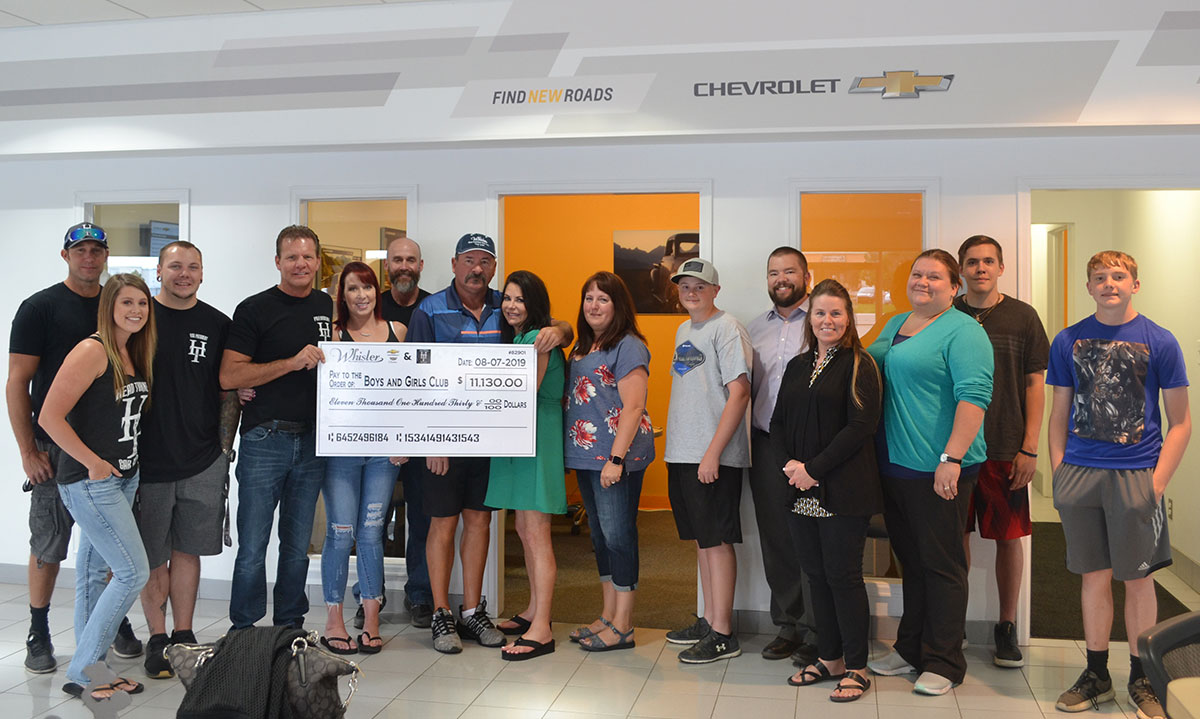Wyoming Head Turners Car Club and Whisler Chevrolet Raises Over $11,000 for Boys & Girls Club