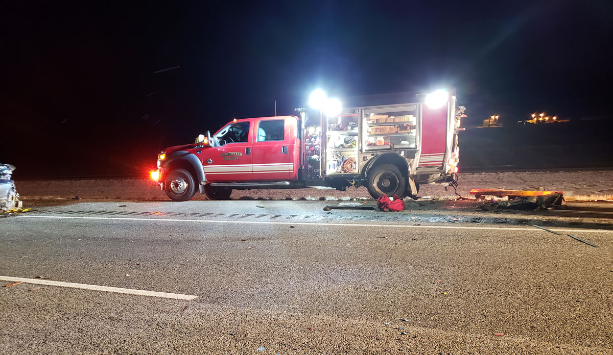 Four Wamsutter Firefighters Injured on Scene of Crash on I-80