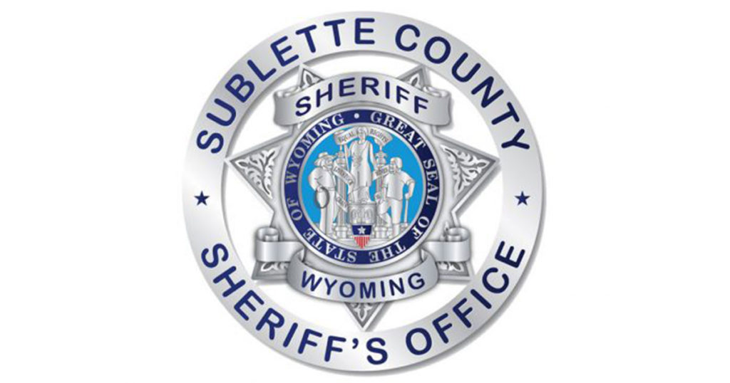 Sublette County Arrest Report for May  24-31, 2021