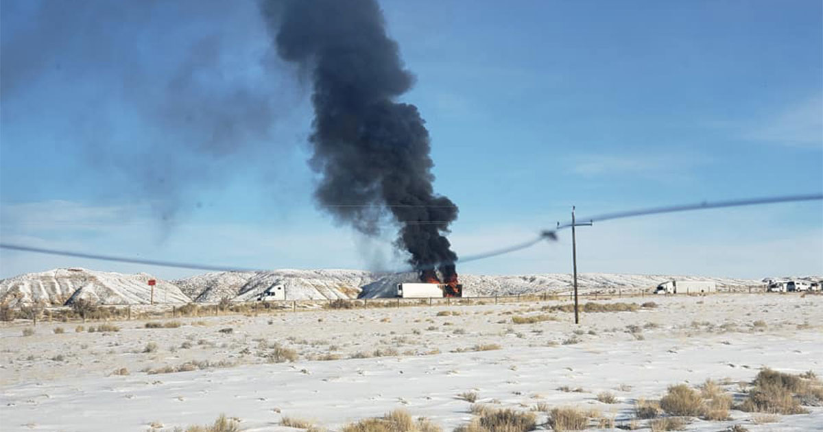 Vehicle Fire Closes I80 Westbound