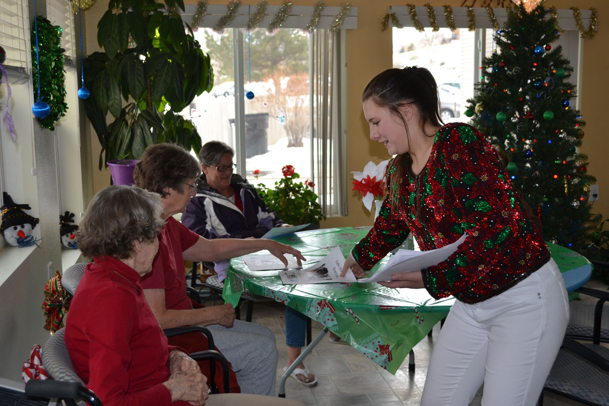 Local Students Give the Gift of Wellness and Holiday Cheer