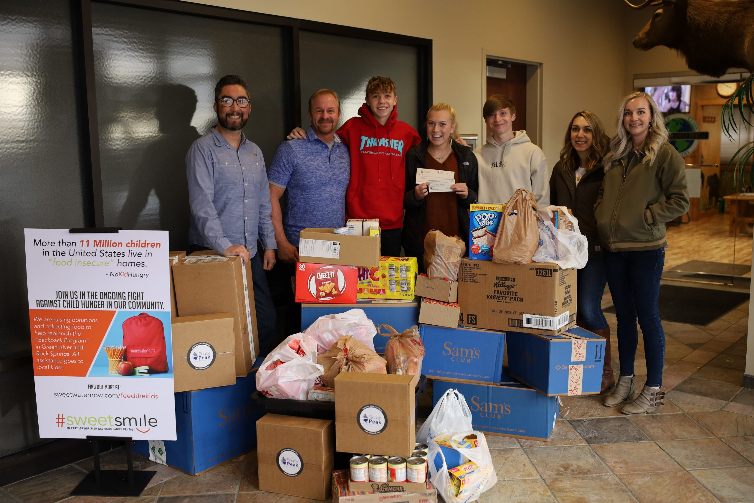 #SWEETSMILE: Backpack Program Receives Food and Monetary Donations
