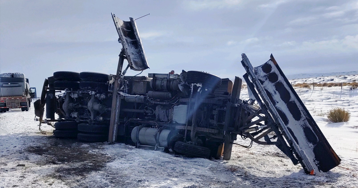 WYDOT Plow Struck on Interstate This Morning Near Patrick Draw