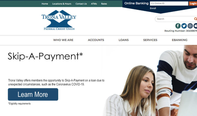 Trona Valley FCU Offers Skip-A-Payment