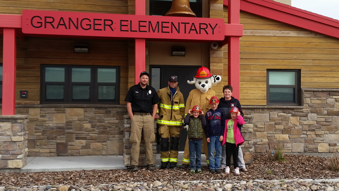 Sweetwater County Fire Department Holds Fire Prevention Programs for Rural Schools in the County
