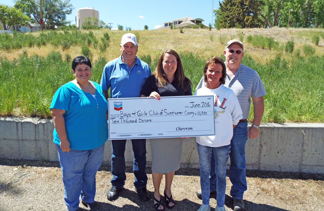 Chevron Donates $10,000 To Boys and Girls Club of Sweetwater County