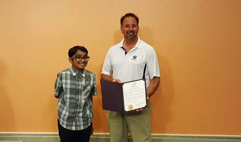 Rock Springs Council Honors Local Spelling Champ