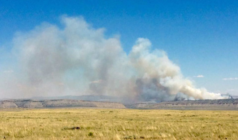 BLM Fighting Wildfire in Sweetwater County
