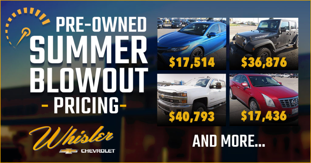 Start the Summer in a New-to-You Ride From Whisler Chevrolet Cadillac!