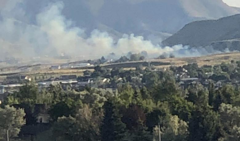 Fire Under Control Behind Volcic Trailer Park