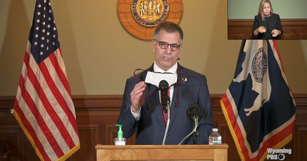 Governor Gordon Announces Statewide Mask Mandate for Wyoming