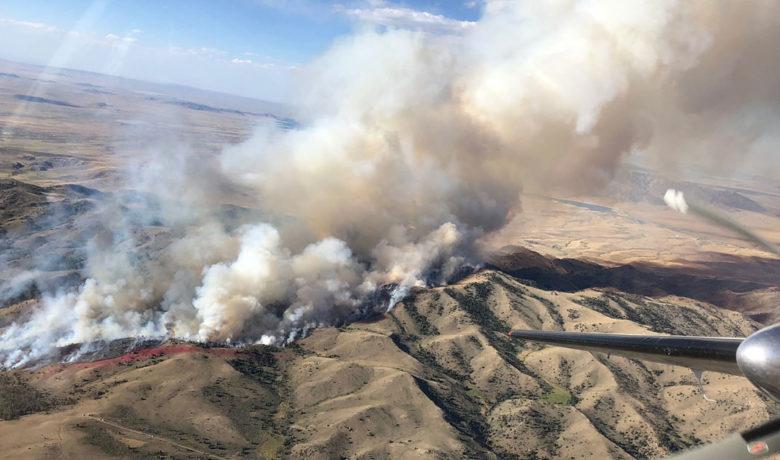Bradley Fire Starts and Burns on Bradley Peak