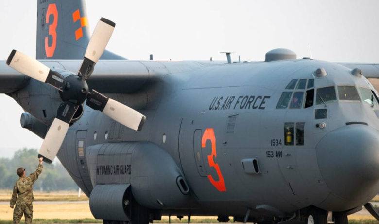 California Resident Thanks Wyoming Air National Guard Unit Fighting Wildfires