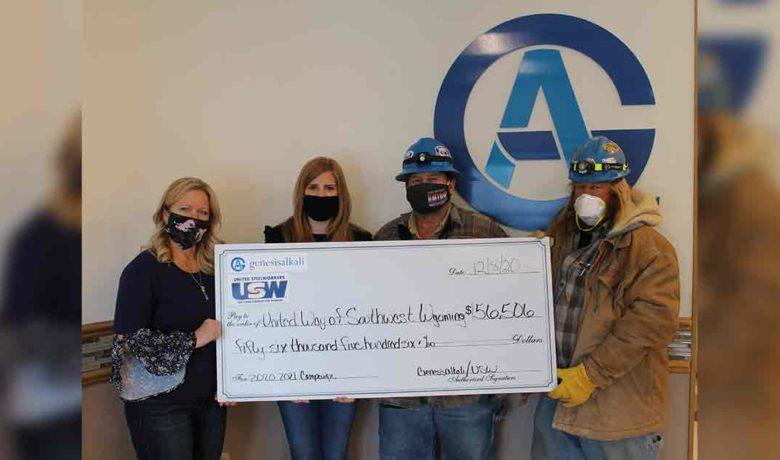 United Way Receives $56,506 From Genesis Alkali Employees