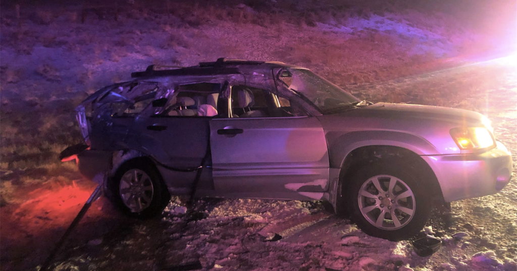 Plow Truck Hit by Passenger Vehicle Near Riverton