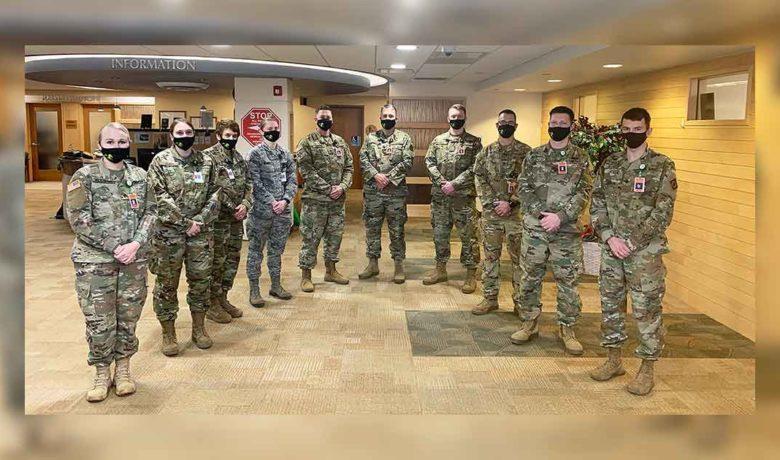 Wyoming National Guard Members Assisting Sweetwater Memorial Leave Friday