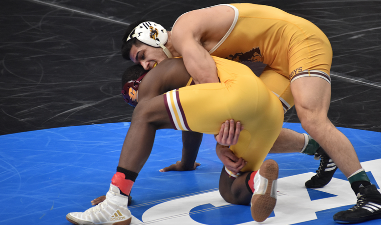 Two Pokes Move on to Quarterfinals in NCAA Wrestling Championships