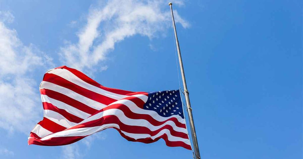 Flags Ordered to Fly at Half-Staff Wednesday to Honor Return of Vietnam Veteran