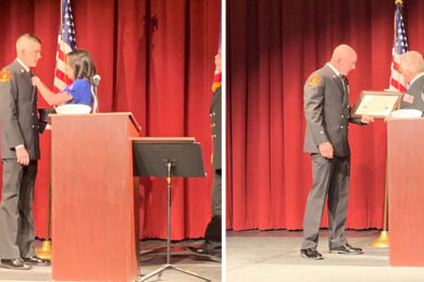 Rock Springs Fire Department Recognizes Two Members in Friday Ceremony