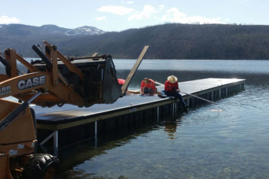 New Fork, Willow and Half Moon Lakes Get New Boat Docks in Time for Summer
