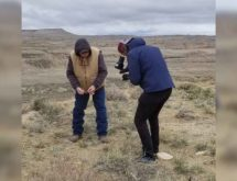 French Television Crew Shoots History Feature in Sweetwater County