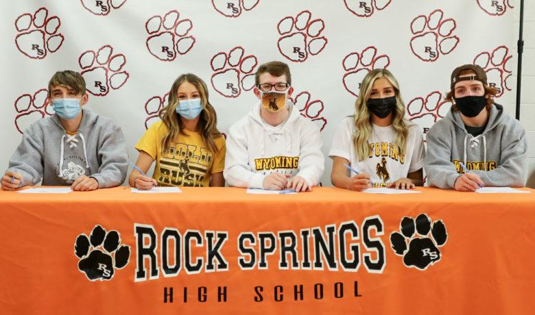 Five RSHS Seniors Sign With UW Spirit