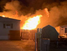 Rock Springs Mobile Home Destroyed in Fire Last Night