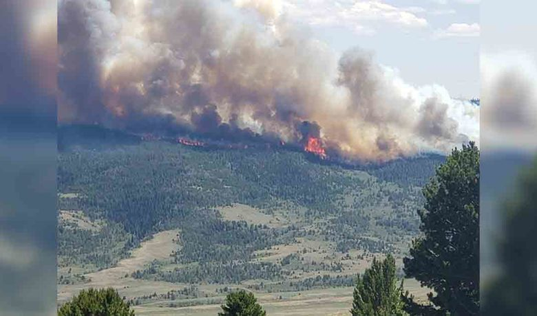 Sweetwater County Fire Department Monitoring Fire Near Pine Mountain