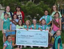Girl Scouts Give Young at Heart Sizable Donation