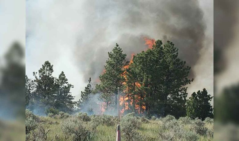 PHOTOS: Pre-Evacuation Orders Given as NE Wyoming 'Skull Creek Fire' Grows
