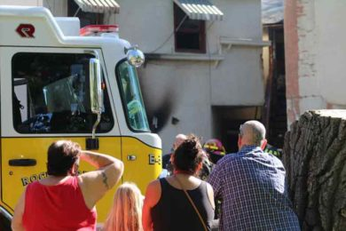 PHOTOS: One Resident Suffered Smoke Inhalation from an Apartment Fire